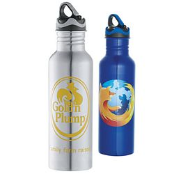 Custom 26 Oz Colorband Stainless Bottle