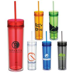 Promotional 15 Oz Hot Cold Skinny Tumbler