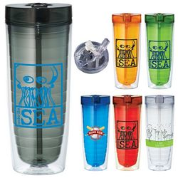 Promotional 20 Oz Hot Cold Flip N Sip Vortex Tumbler