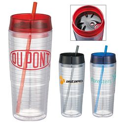 Custom 20 Oz Hot Cold Swirl Double-Wall Tumbler