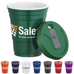 Promotional 16 Oz Game Day Cup With Lid