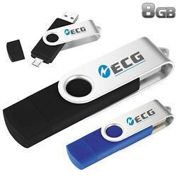 Promotional 8Gb Rotate Otg Ultimate Flash Drive