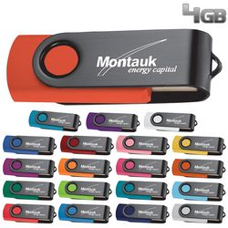 Promotional 4Gb Rotate Black Clip Flash Drive