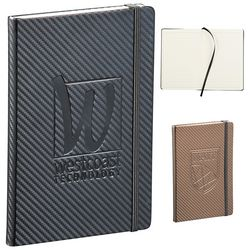 Promotional 5x7 Ambassador Carbon Fiber JournalBook