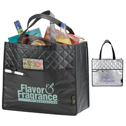 Promotional Laminated Non-Woven Quilted Carry-All Tote Bag