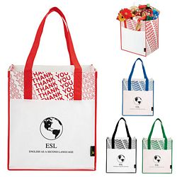 Promotional Laminated Non-Woven Thank You Big Grocery Tote Bag
