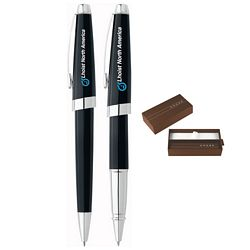 Custom Cross Aventura Onyx Black Pen Set