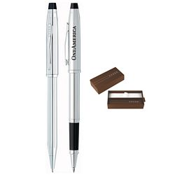 Promotional Cross Century Ii Lustrous Chrome Pen Set