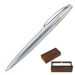 Customized Cross Atx Pure Chrome Ballpoint Pen