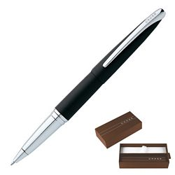 Customized Cross Atx Basalt Black Roller Ball Pen