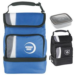 Customized Arctic Zone Dual Compartment Lunch Cooler Bag
