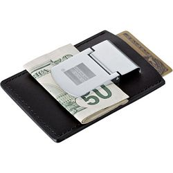Promotional Zippo Spring Loaded Leather Money Clip