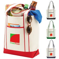Promotional Top Sail Cotton Boat Tote Bag