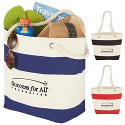 Promotional Capri Stripes Cotton Shopper Tote Bag