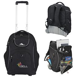 Promotional High Sierra Powerglide Wheeled Compu-Backpack