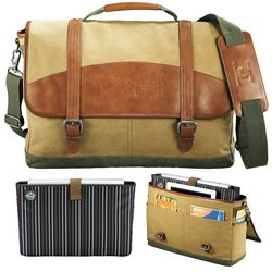 Promotional Cutter Buck Legacy Cotton Compu-Messenger Bag