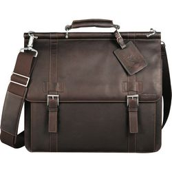 Customized Kenneth Cole Colombian Leather Dowel Compu-Messenger Bag