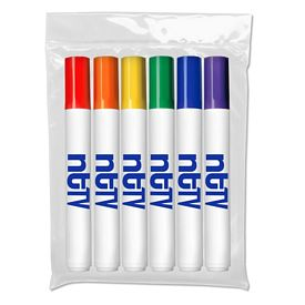 Custom Liquimark Six Pack Of Washable Marker
