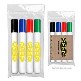 Promotional Liquimark Four Pack of Bullet Tip Dry Erase Marker