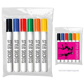 Customized Liquimark Six Pack Of Bullet Tip Dry Erase Marker