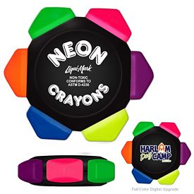 Custom Liquimark Neon Crayo-Craze 6 Color Crayon Wheel