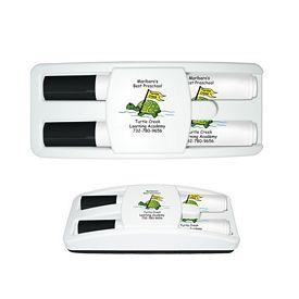 Promotional Liquimark Dry Erase Gear Marker Eraser Set Black/Black