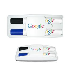 Promotional Liquimark Dry Erase Gear Marker Eraser Set Black/Blue