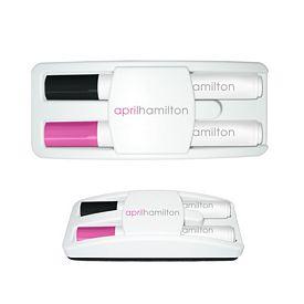 Promotional Liquimark Dry Erase Gear Marker Eraser Set Black/Pink