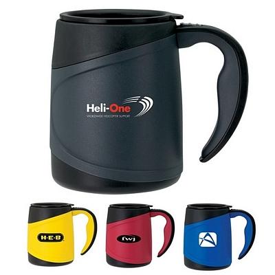 Promotioinal Sovrano Olimpio 15 Oz Microwavable Travel Mug Black