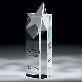 Promotional Crystal Escuro Ill Large Star Award