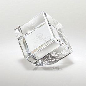 Custom Crystal Canto I Small Corner Block Award