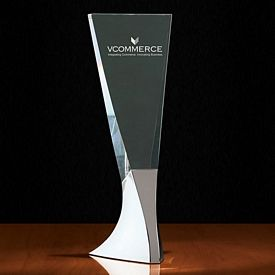 Customized Crystal Tembre I Large Tapered Tower Award