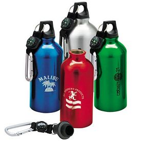 Promotional Giftcor 16.9 oz. Flask with Carabiner - CLOSEOUT ITEM