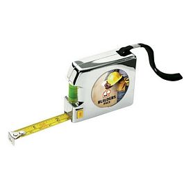 Promotional Giftcor Gm3100 12 Ft Chrome Level Tape Measure