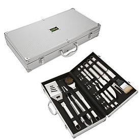 Promotional Giftcor Gr2010 18 Piece Steel Bbq Set