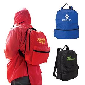 Customized Giftcor Gr5300 Rain Poncho Backpack Set