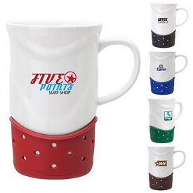 Promotional Sovrano Aspira 14 oz. White Ceramic Mug