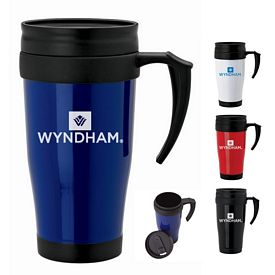 Promotional Sovrano Km6112 16 Oz Double Wall Travel Mug