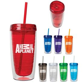 Custom Valumark Km6119 16 Oz Acrylic Straw Tumbler