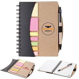 Promotional Valumark Eco Spiral Sticky Flag Notebook