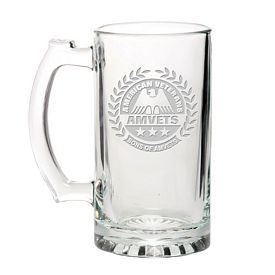 Promotional Libbey 15 oz. Glass Beer Mug Etched