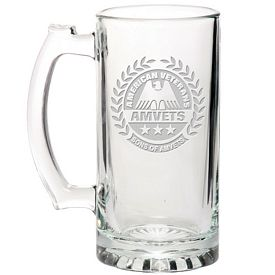 Promotional Libbey 25 oz. Glass Beer Mug Etched