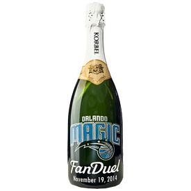 Promotional Korbel Etched Champagne Bottle