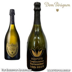 Promotional Dom Perignon Etched Champagne Bottle