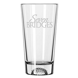Promotional Libbey 16 oz. Golf Ball Bottom Pint Glass Etched