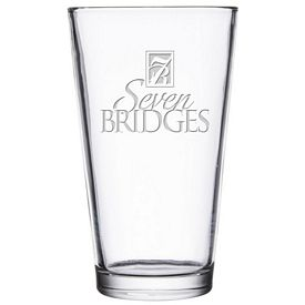 Promotional Libbey 16 oz. Pub Pint Glass Etched