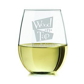 Promotional Libbey 17 oz. Stemless White Wine Glass Etched