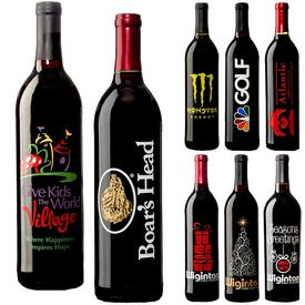 Promotional Etched Wine Bottle 750mL