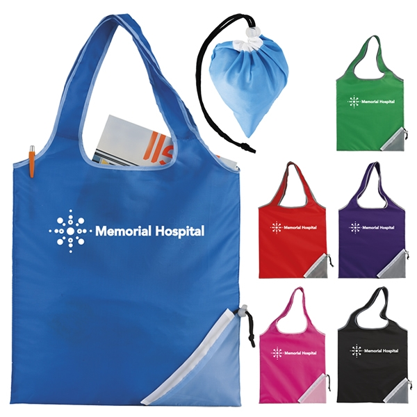 0fd8a2d55c Promotional Fold-Up Cinch Corner Tote Bag