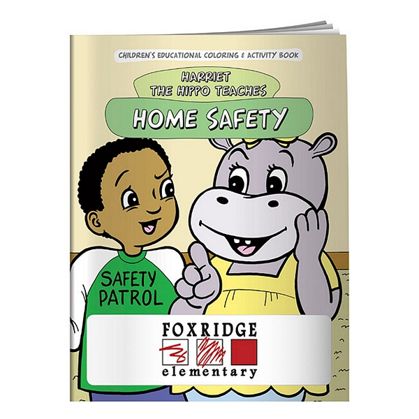 Promotional Coloring Book: Home Safety | Customized Coloring Book ...